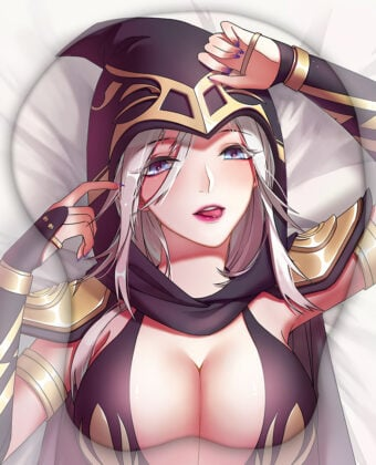 Ashe The Frost Archer 3D Oppai Mouse Pad
