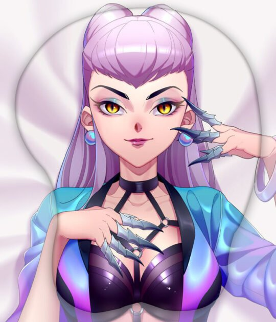 KDA All Out Evelynn 3D Oppai Mouse Pad