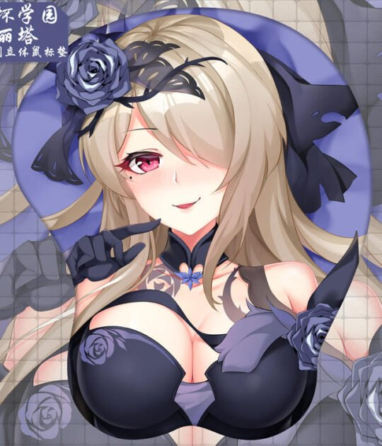 Rita Rossweisse 3D Oppai Mouse Pad